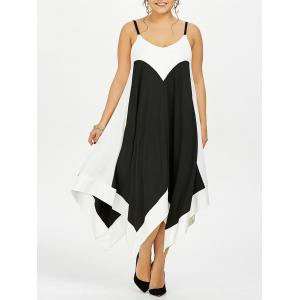 Plus Size Handkerchief Flowy Two Tone Slip Dress
