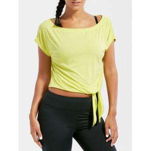 Active  Front Tie CroppedT-shirt