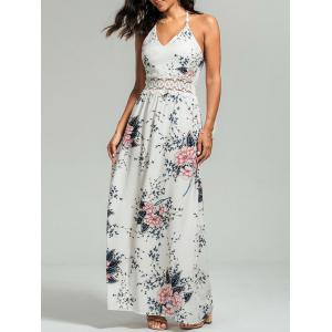 Maxi Floral Cut Out  Slip Dress for Summer