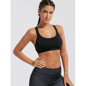 Seamless Padded  Workout Bra - BLACK S