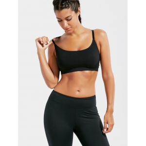 Racer Back Padded Cutross Gym Bra - Noir M