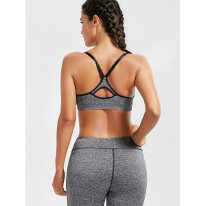 Racer Back  Padded Cutout Gym Bra -