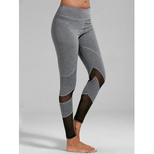 High Rise Mesh Panel Fitness Leggings -
