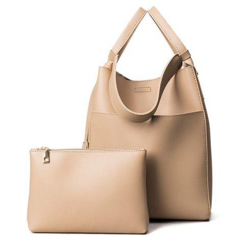 Pouch Bag and Convertible Handbag - Khaki