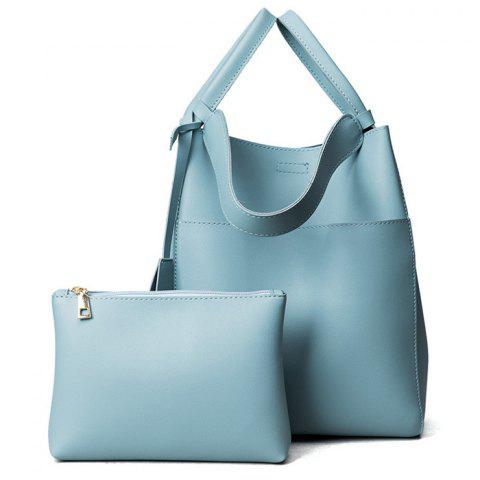 Pouch Bag and Convertible Handbag - Blue