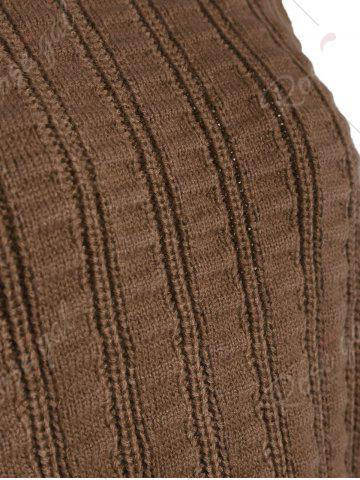 Buy Knit Lace Up Sweater Vest - ONE SIZE BROWN Mobile