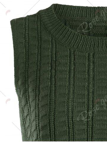 Buy Knit Lace Up Sweater Vest - ONE SIZE CLOVER Mobile