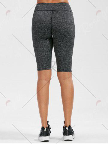 Outfit High Rise Knee Length Leggings with Pockets - XL DEEP GRAY Mobile