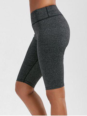 Fashion High Rise Knee Length Leggings with Pockets