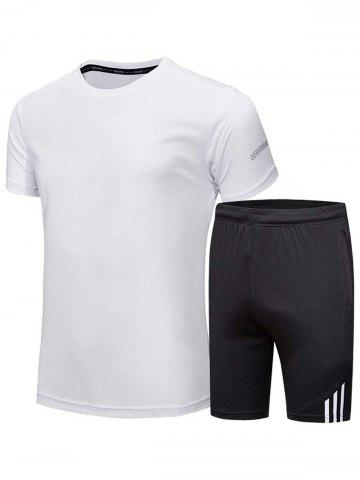 Shops Crew Neck Tee and Shorts Sportswear - 3XL WHITE Mobile