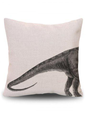 Unique Home Decor Dinosaur Animal Throw Pillowcase - PATTERN A BEIGE Mobile