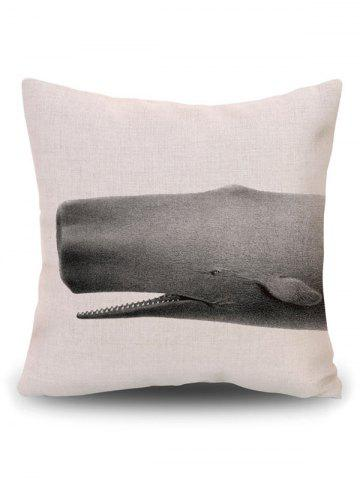 Best Sofa Decorative Linen Shark Throw Pillow Cover - PATTERN B BEIGE Mobile