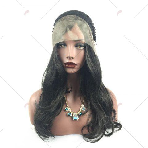 Trendy Long Layered Wavy Side Part Lace Front Synthetic Wig - BLACK  Mobile