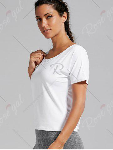 New Quick Dry Simple Running T-shirt - L WHITE Mobile