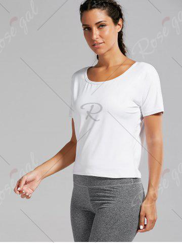 Outfits Quick Dry Simple Running T-shirt - L WHITE Mobile