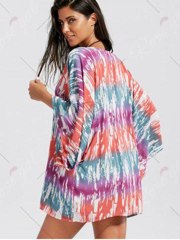 Store V Neck Oversized Cover Up - ONE SIZE COLORMIX Mobile