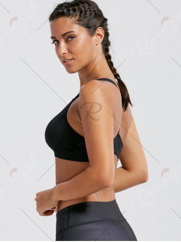 Affordable Seamless Padded  Workout Bra - S BLACK Mobile