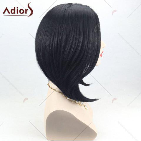 Store Adiors Side Part High Low Short Bob Straight Synthetic Wig - BLACK  Mobile
