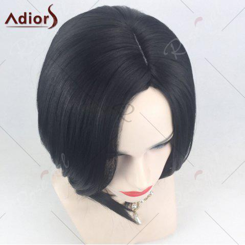 Buy Adiors Side Part High Low Short Bob Straight Synthetic Wig - BLACK  Mobile