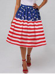 American Flag Patriotic High Waisted Jupe