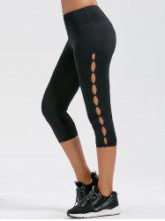 Side Cut Out Capri Fitness Leggings