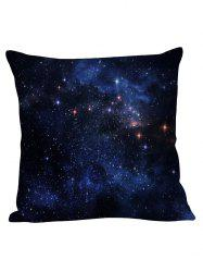 Night Sky Star Decorative Linen Pillow Case - CERULEAN
