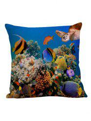 3D Underwater Fish Decorative Pillow Case - COLORFUL