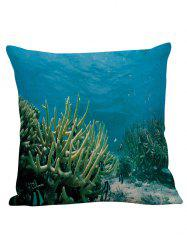 3D Coral Underwater Decorative Pillow Case