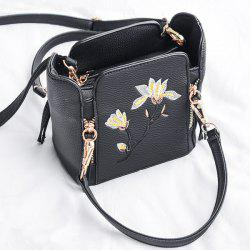 Flower Embroidered Multi Zips Handbag