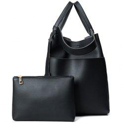 Pouch Bag and Convertible Handbag - BLACK