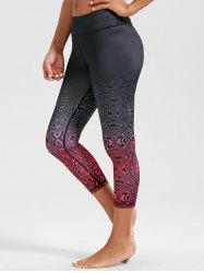 High Rise Ombre Print Funky Gym Leggings