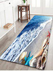 Bathroom Beach Starfish Printed Skidproof Flannel Rug