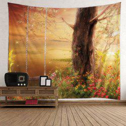 Wall Hanging Tree Floral Print Tapestry