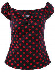 Polka Dot Sweetheart Neck T-shirt