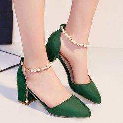 Beading Two Piece Pumps - GREEN