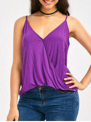 Deep V Neck Surplice Blouson Cami Top