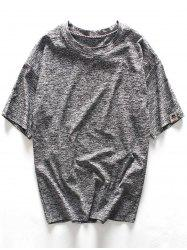 Loose Fit Space Dyed Crew Neck Tee