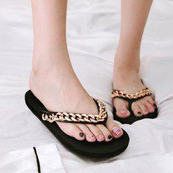 Flat Heel Chains Slippers