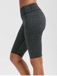 High Rise Knee Length Leggings with Pockets