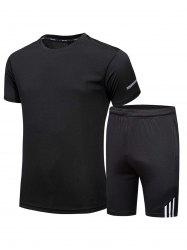 Crew Neck Tee and Shorts Sportswear -