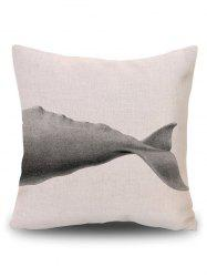 Sofa Decorative Linen Shark Throw Pillow Cover