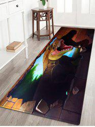 Dinasaur 3D Pattern Anti-skid Water Absorption Area Rug