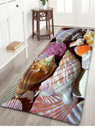Bathroom Skidproof Flannel Conch Printed Rug