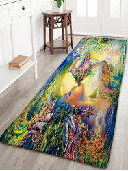 Northern Europe Conch Goddess Flannel Bathroom Rug