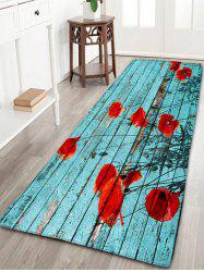 Vintage Wood Grain Flower Flannel Bath Rug