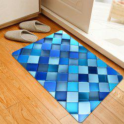 3D Diamond Check Pattern Anti-skid Water Absorption Area Rug
