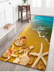Beach Starfish Conch Flannel Antislip Rug