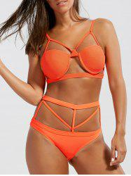 Underwire Caged Strappy Bikini Set
