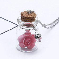 Glow in the dark Glass Dry Floral Necklace