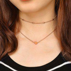 Heart Shape Collarbone Pendant Necklace Set